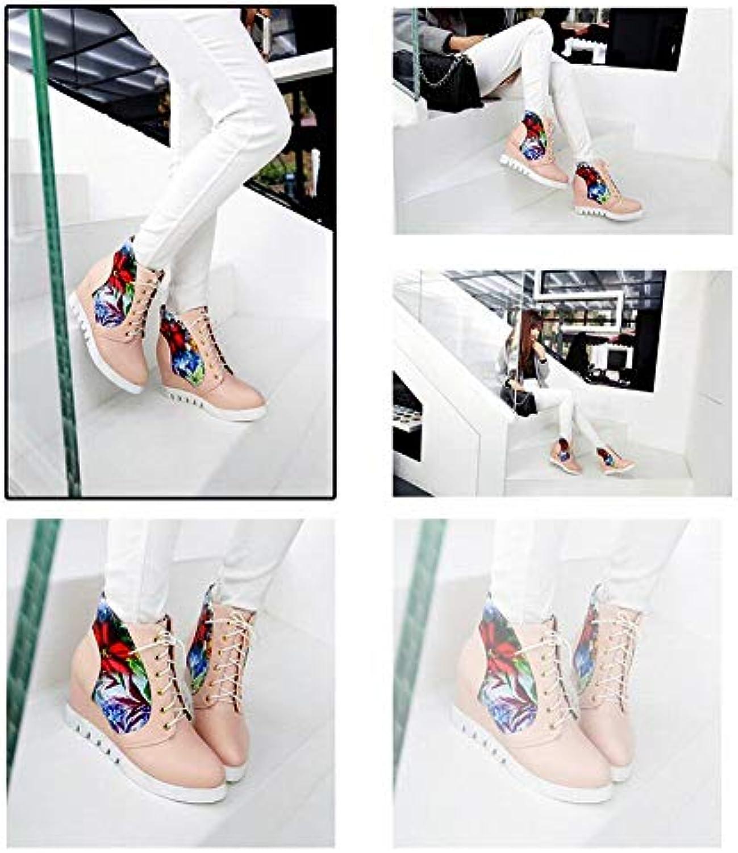 WSR Bottes pour Femmes/Chaussures Montantes Chaudes/Chaussures Chaudes/Chaussures Montantes Plates/Chaussures Douces pour Étudiants, 35-43 d8d843