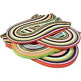 26 couleurs 1040 Frises Papier Quilling Sets Bandes pour Quilling Papier Quilling Outil, 3/ 5/ 7/ 10 mm, 4 Sets
