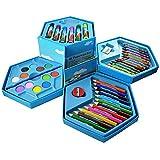 INFInxt Color Box with Sketch, Crayons, Colors-Pencil, Water Colors - 46 Pieces