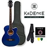 Kadence Frontier Series, Blue Acoustic Guitar Combo(Bag,strap,strings and 3 picks)