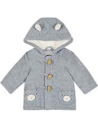 Bluezoo Kids Baby Boys' Grey Fleece Coat 12-18 Months