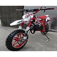 Mini Pitbike con motor de 49cc de 2 tiempos, XTM TEAM cross. Mini dirt bike. Moto de mini cross (Rojo)