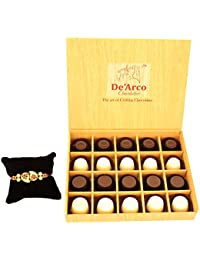DEARCO CHOCOLATIER CHOCOLATE GIFT BOX, RAKHI CHOCOLATE For BROTHER, Luxury Rakhi Gift, PREMIUM RAKHI GIFT CHOCOLATES... - B073ZMJ5GR