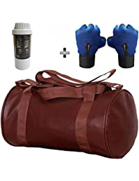 5 O' CLOCK SPORTS Gym Bag Combo Set Enclosed With Soft Leather Gym Bag For Men And Women For Fitness - Bag Size...