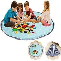 Preisvergleich für xhforever Kinder Aufräumsack Spieldecke Spielzeug Speicher Tasche Aufbewahrung Beutel Spielzeugaufbewahrung 150cm