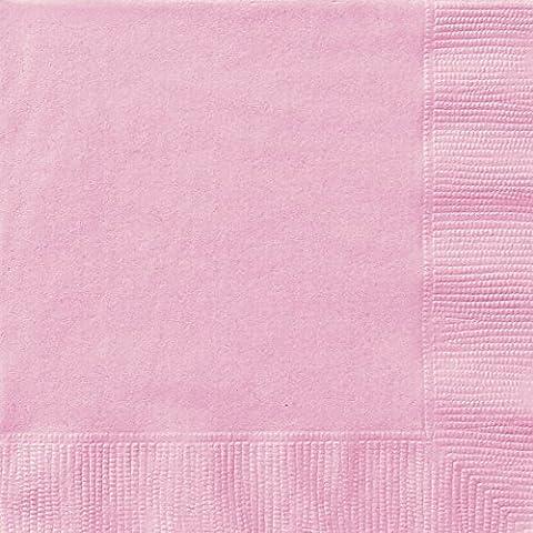 Unique Party - Paquete de 20 servilletas de papel, color rosa (30872)