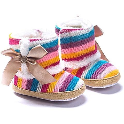 Zapatos De Bebé, RETUROM Multicolor De La Niña Del Arco Iris Suavemente Único La Nieve Blanda Cuna Botas De Los Zapatos Para Niños
