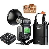 Godox Witstro AD360II TTL - Flash para cámara fotográfica, 360W, GN80,potente, 2,4G, inalámbrico, X Speedlite, 4500mAh, PB960, conbatería de litio y transmisor X1 TTL, para cámaras Canon y Nikon