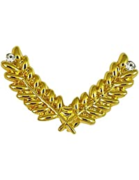 Ammvi Creations Gold Foamed Greek Leaves Laurel Wreath Exclusive Lapel Pin Shirt Stud Brooch