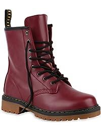 d80351d4c4e974 Stiefelparadies Unisex Damen Herren Stiefeletten Worker Boots Profilsohle  Flandell