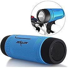 Altavoces Inalámbricos ZEALOT impermeable S1 CSR4.0 Altavoces Bluetooth portátiles IP55 a prueba de golpes Anti-polvo estéreo Boombox 5en1 combo- 4000mAh Banco de la Energía Externa del Cargador de Batería / LED de luz de la Linterna / Micro SD Tarjeta de Reproductor de Música / Hi-Fi Micrófono Libre de la Mano de Llamadas / Entrada de Audio Upto 24 Horas de Reproducción de Larga Duración de los Altavoces al Aire Libre - Azul