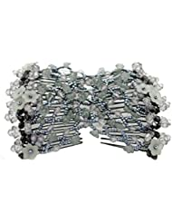 contever® Magic Schleife Blume Haar dehnbar Kamm, doppelte Clips Haarnadeln für Frauen/Damen