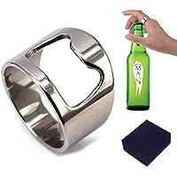 Flaschenöffner-Ring für Männer / Frauen, praktisch, Titan, Titanstahl, 8