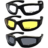 Killer Whale Men's Motorcycle glasses & Riding Glasses 3 Pairs