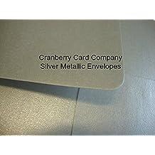 Sobres de plata C5de Cranberry Card Company (50)