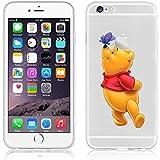 Ronney de Disney Soporte de Winnie the Pooh & Friends funda TPU suave transparente para Apple iPhone 5/5S/se 6/6S y 6+/6+ S, plástico, WINNIE 2, APPLE IPHONE 6/6S