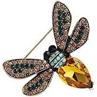 Kanggest Broche para Mujer Creativa Moda Forma de abeja del diamante Broche Elegante Broches para Ropa Bufanda Vestidos