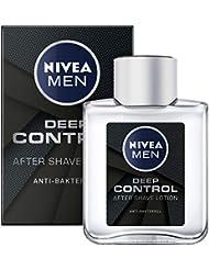 NIVEA MEN DEEP Control After Shave Lotion im 3er Pack ( 3 x 100 ml), antibakterielles After Shave, für die Hautpflege nach der Rasur