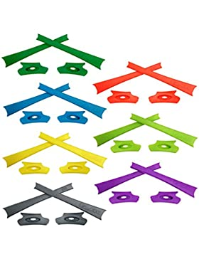 HKUCO Green/Yellow/Orange/Blue/Light Green/Grey/Purple Replacement Rubber Kit For Oakley Flak Jacket /Flak Jacket...