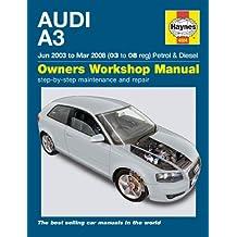 Haynes - Manual para choche Audi A3 1.9 2.0 TDi 1.6 2.0 Turbo 2003-2008