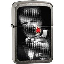Zippo George Blaisdell Flames Lighter - Mechero, color acero inoxidable