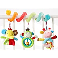 Newin Star Juego de cama para bebé en espiral, juguetes para cochecito de bebé, juguete para cochecito de bebé con timbre educativo, juguetes de peluche 1 pieza