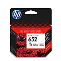 HP 652 Ink Advantage Cartridge, Tri-color - F6V24AE