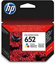 HP 652 Ink Advantage Cartridge, Tri-color - F6V24AE