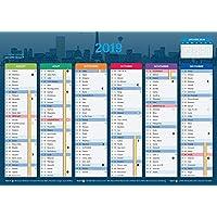 Calendrier 2019 - format A4 - Papier épais - prévu pour l'écriture.