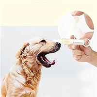 Waroomss Alimentador de tabletas de plástico para Mascotas Alimentador de tabletas inyectables Jeringas Médicas Herramientas de Alimentación con Punta Suave para Perros Gato