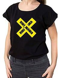 Bemode T-Shirt Donna Manica Corta in Cotone Riki Mania d7d04f0b588e