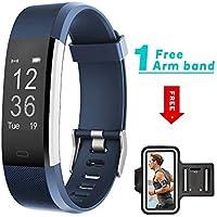 showyoo Fitness Armbanduhr, Fitness Tracker mit Herzfrequenz Schrittzähler Schlafmonitor und Kalorienzähler, IP67 Wasserdicht Aktivitätstracker Armband Uhr für Android und iPhone