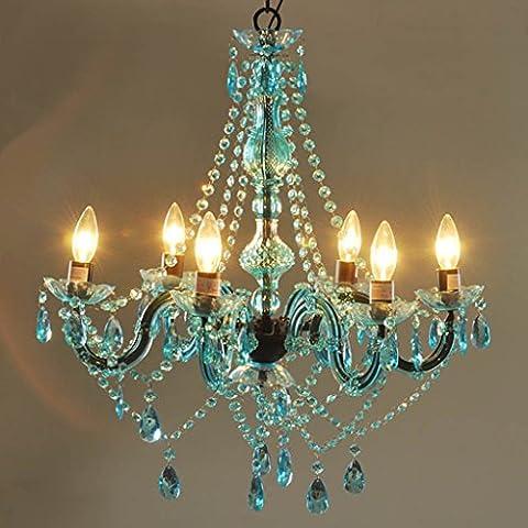 Adelaide - in stile mediterraneo di colore lampadario di cristallo candela stile europeo-americano camera 6 sei stanze da letto soggiorno ristorante ragazza principessa dei bambini