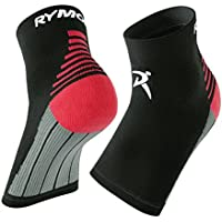 Rymora Plantar Fasciitis Foot Compression Sock Sleeves with Cushioning - Relieves Pain - Supports Heel, Arch & Ankle