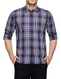 STOP to start Stop by Shoppers Stop Mens Slim Collar Check Shirt