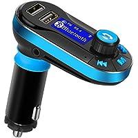 Transmisor FM bluetooth para Coche Manos Libres Cargador USB Adaptador de Radio Reproductor MP3