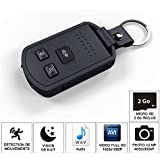 SHOPINNOV Camera espion Cle de voiture HD vision nocturne et detection mouvement 2Go
