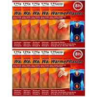Tiritas térmicas para espalda, hombros, vientre – Cojín de calor – Tiritas de calor 8 h, producto de bienestar para masaje y relajación, 10 unidades