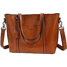 a87d9e0987 Vovoye Faux Leather Large Size Women's Adjustable Designer Shoulder Handbags