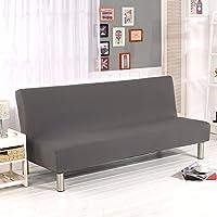 Cornasee funda de clic-clac elástica, cubre /protector sofá de 3 plazas,color sólido