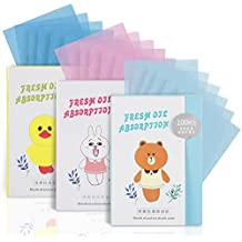 Teenitor 300 Counts Oil Blotting Sheets, Natural Blotting Paper for Face, Top Handy Oil Absorbing Tissues for Oily Skin Care or Make Up