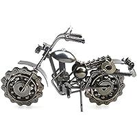 VORCOOL Hierro Vintage Harley Davidson Motocicleta Modelo Retro Artesanía Coleccionable Hierro Arte Escultura para Moto Amante Hogar Escritorio Trabajo Oficina Decoración (Gris)