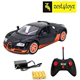 Zest 4 Toyz Rechargeable Bugatti Style RC Car With Fully Function Doors (Orange)