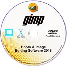 GIMP 2018 Photo Editor Premium Professional Image Editing Software CD for PC Windows 10 8.1 8 7 Vista XP, Mac OS X & Linux - Full Program & No Monthly Subscription!