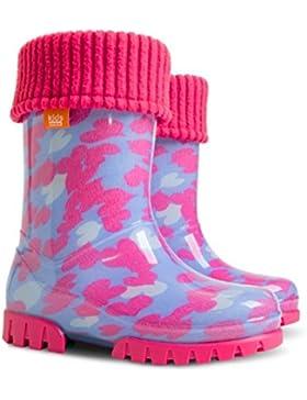 Mädchen Kids Baby Mädchen Gummistiefel Gummistiefel RAINY Snow Warm Liner Socke Little Hearts