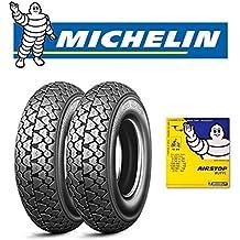 Par neumáticos Michelin S83para Piaggio Vespa Cosa Squire Sidecar 200con cámaras de aire Michelin tamaño: 100/90–1056J Dot 2016