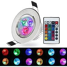 XJLED® 5W LED RGB da soffitto, Faretto a LED che