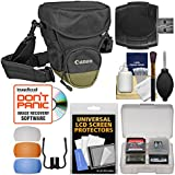 Canon Zoom Pack 1000 Digital SLR Camera Holster Case With Flash Filters + Cleaning Kit