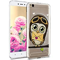 Uposao Hülle Xiaomi Redmi 5A Silikon Handyhüllen Bunt Muster Transparent TPU Silikon Handyhülle Durchsichtige Schutzhülle TPU Weich Tasche,Eule