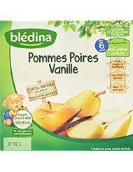Blédina Coupelles Pommes Poires Vanille dès 6 mois 4 x 100 g